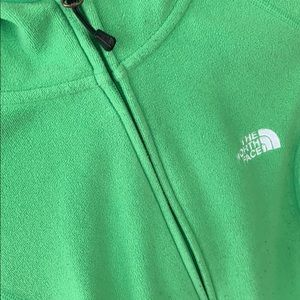The North Face green jacket. Used in great shape!
